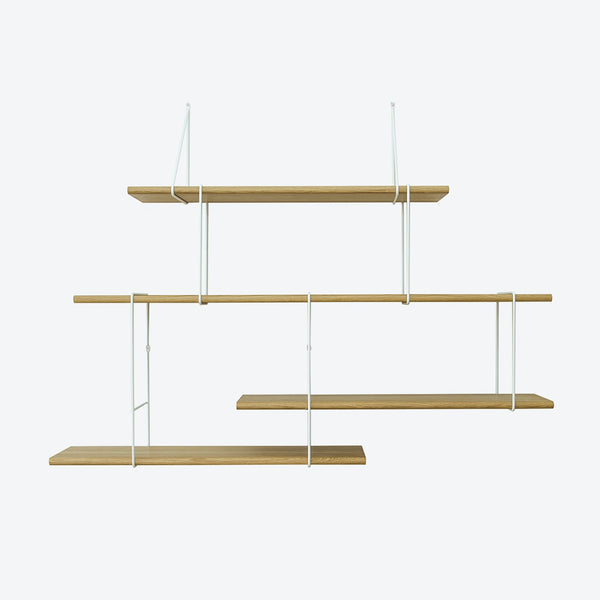 LINK Shelf - Setup 2 - Oak/White | Studio Hausen