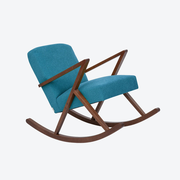 Retrostar Rocking Chair - Sternzeit Design - Basic Line in Turquoise | Retro Armchair