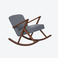 Retrostar Rocking Chair - Sternzeit Design - Basic Line in Grey | Retro Armchair