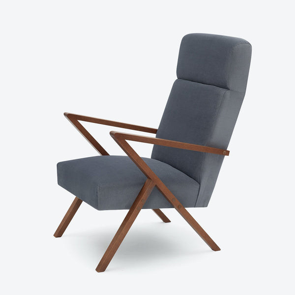 Retrostar Lounge Chair - Sternzeit Design - Velvet Line in Grey | Retro Armchair
