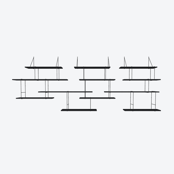 LINK Shelf - Trio - Black Ash/Black | Studio Hausen