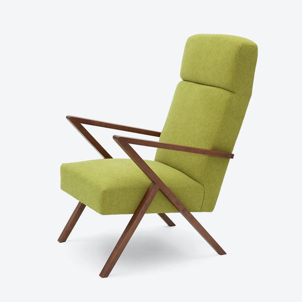 Retrostar Lounge Chair - Sternzeit Design - Basic Line in Mustard Green | Retro Armchair