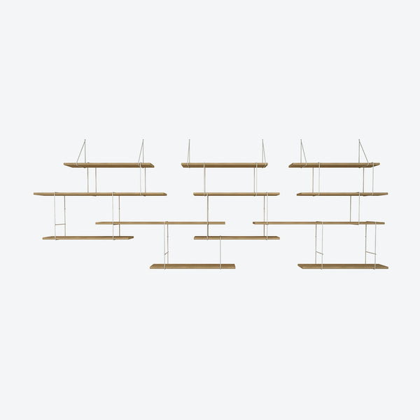 LINK Shelf - Trio - Oak/White | Studio Hausen