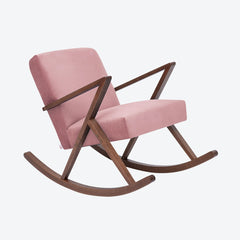 Retrostar Rocking Chair - Sternzeit Design - Velvet Line in Vintage Pink | Retro Armchair