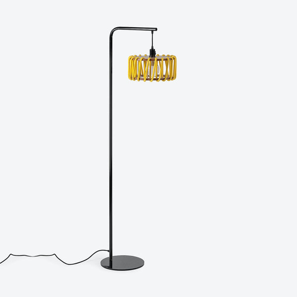Black Macaron Floor Lamp - Yellow - by Emko