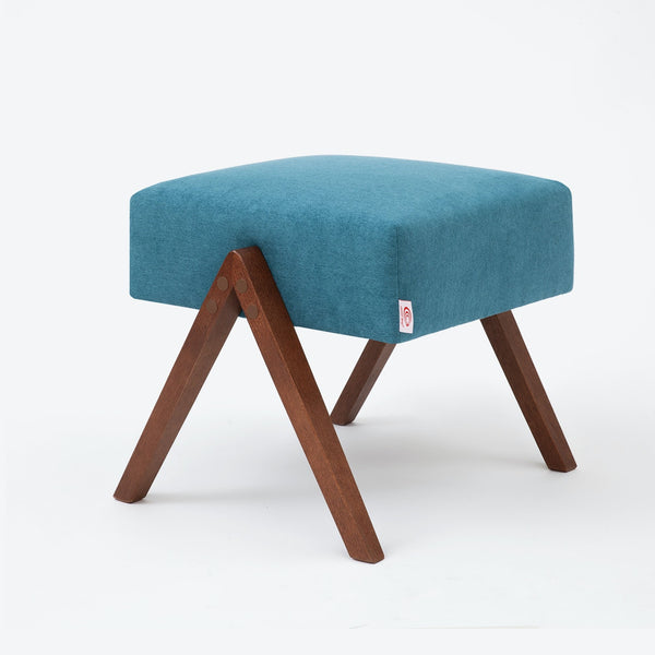 Retrostar Footstool - Basic Line in Turquoise | Sternzeit Design