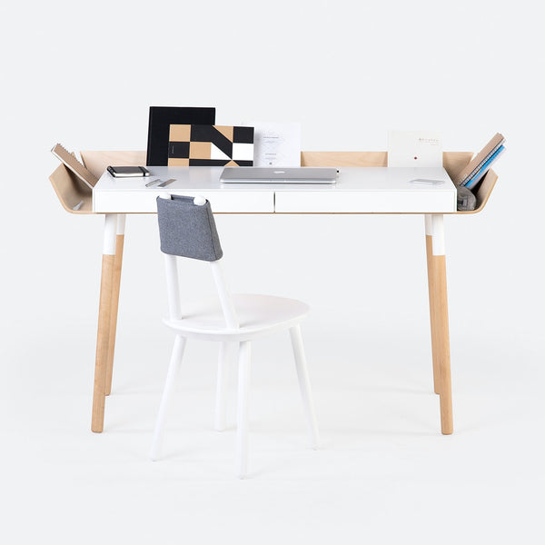 'My Writing Desk' Double Drawer in Birch - by Emko