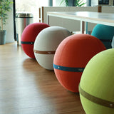 Orange Ball Chair - by Bloon Paris |  Spherical Ergonomic Office Chair