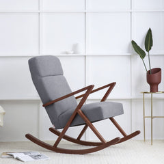 Retrostar Rocking Lounge Chair - Sternzeit Design - Basic Line in Grey | Retro Armchair
