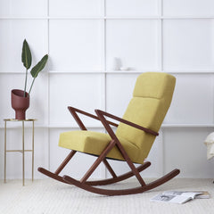 Retrostar Rocking Lounge Chair - Sternzeit Design - Basic Line in Yellow | Retro Armchair