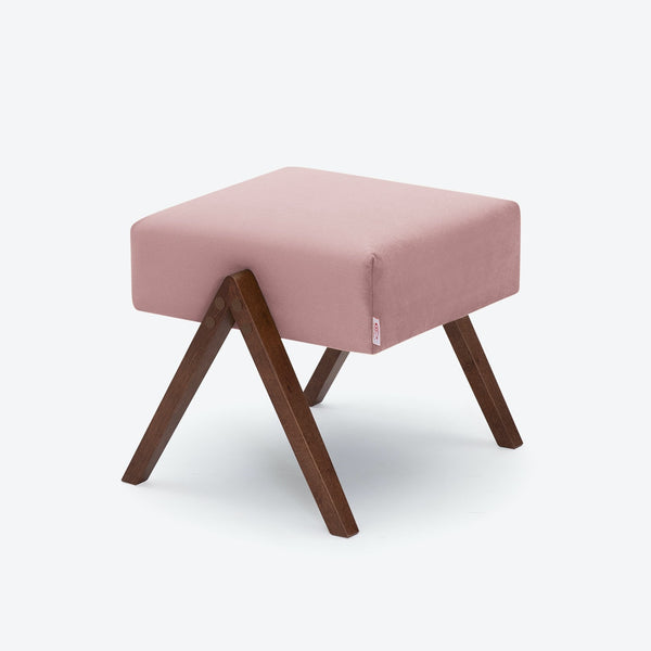Retrostar Footstool - Velvet Line in Rose | Sternzeit Design