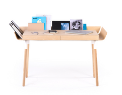 'My Writing Desk' Double Drawer in Ash - by Emko