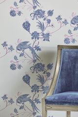 Bird Wallpaper | Vintage Blue | Designer Wallpaper from 'Barneby Gates'