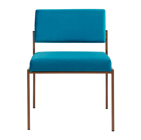 Cube Chair - Sternzeit Design - Velvet Line in Ocean Blue | Retro Chair