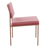 Cube Chair - Sternzeit Design - Velvet Line in Pink | Retro Chair