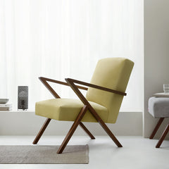 Retrostar Armchair - Sternzeit Design - Velvet Line in Lemon | Retro Armchair