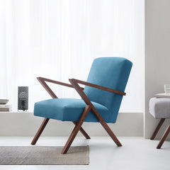 Retrostar Chair - Velvet Line in Ocean Blue | Sternzeit Design