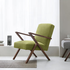 Retrostar Chair - Velvet Line in Apple-Green | Sternzeit Design