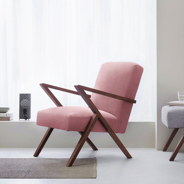 Retrostar Armchair - Sternzeit Design - Velvet Line in Rose | Retro Armchair
