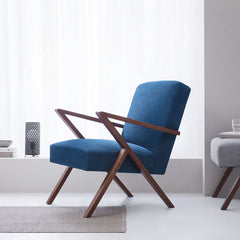Retrostar Chair - Velvet Line in Royal Blue | Sternzeit Design