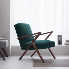 Retrostar Armchair - Sternzeit Design - Velvet Line in Hunter-Green | Retro Armchair