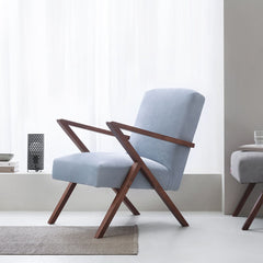 Retrostar Chair - Velvet Line in Ice-Grey | Sternzeit Design