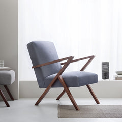 Retrostar Chair - Velvet Line in Grey | Sternzeit Design