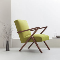 Retrostar Armchair - Sternzeit Design - Basic Line in Mustard-Green | Retro Armchair