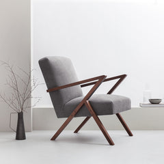 Retrostar Armchair - Sternzeit Design - Basic Line in Grey | Retro Armchair