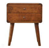 Bedside Table - Double Drawers by Bayswater Designs-Primrose Homeware