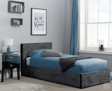 Black Ottoman Bed in Velvet Fabric - Storage Bed by Primrose Homeware-Primrose Homeware