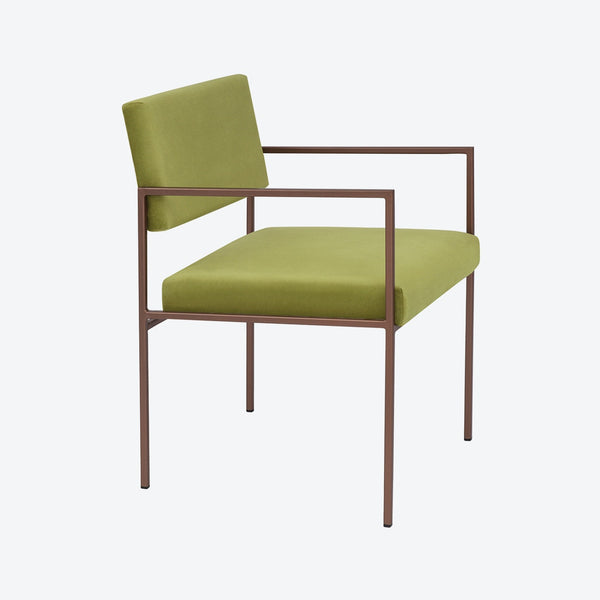 Cube Armchair - Sternzeit Design - Velvet Line in Apple Green | Retro Chair