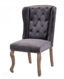 Grey Dining Chair - Set of 2 Studded Detail & Knocker by Camberwell Furniture-Primrose Homeware