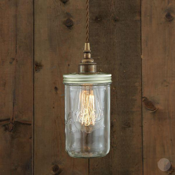 Jam Jar Pendant Light-Primrose Homeware