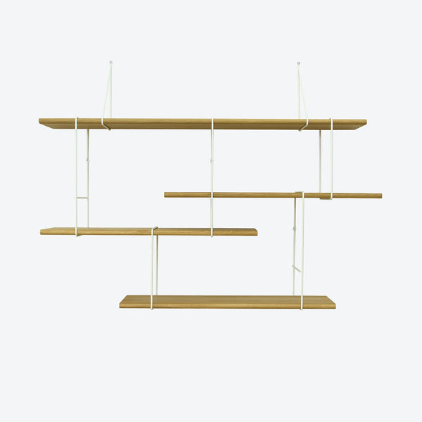 LINK Shelf - Setup 1 - Oak/White | Studio Hausen