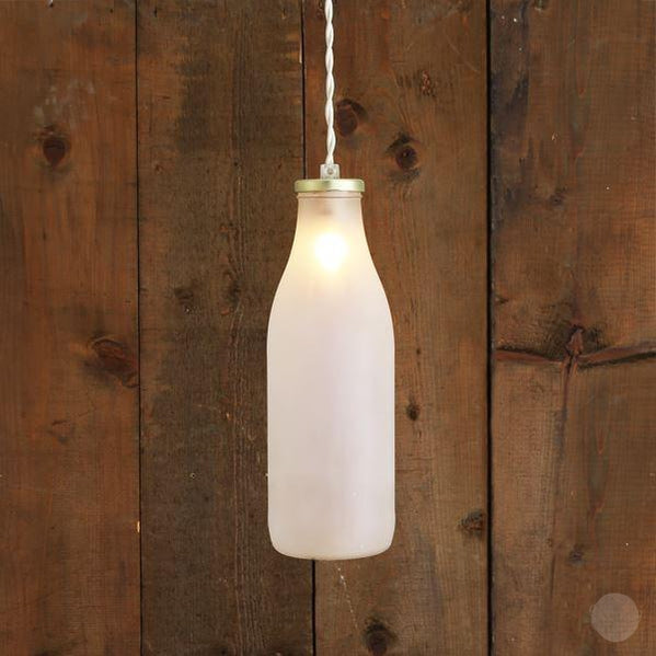 """Milk Bottle"" Pendant Light-Primrose Homeware"