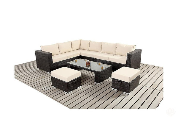 Patio Sofa (Large Corner Sofa Set) - Patio & Outdoor Collection-Primrose Homeware