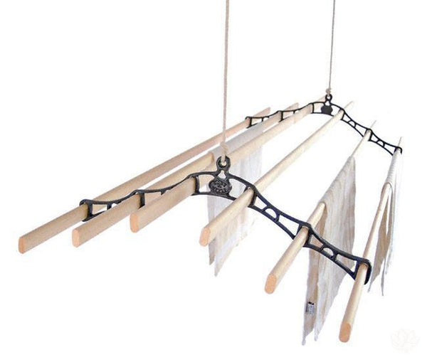 Pulley Clothes Airer - 6 Lath | Hanging Clothes Airer | Victorian Kitchen Maid-Primrose Homeware