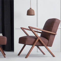 Retrostar Leather Armchair - Sternzeit Design | Retro Armchair