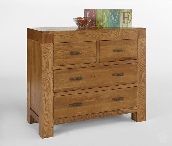Rustic Oak Chest of Drawers - Rustic Solid Oak Furniture Collection-Primrose Homeware