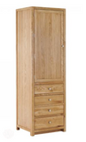 Tall Cabinet - Solid Wood With 1 Door & 4 Drawers by Camberwell Furniture-Primrose Homeware