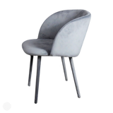 Velvet Dining Chair - Set of 2 Grey Velvet Dining Chairs by Kensington Interiors-Primrose Homeware