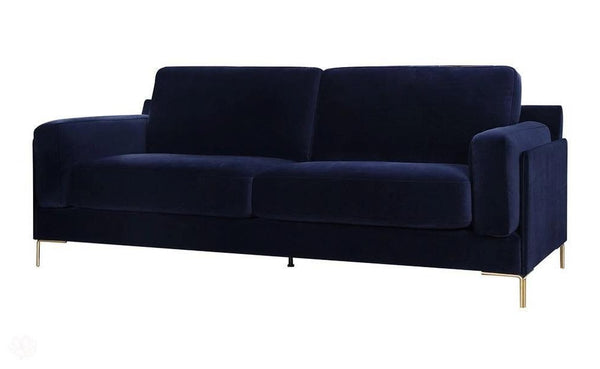 "Velvet Sofa - Dark Blue ""Nybua"" by Belgravia Design-Primrose Homeware"