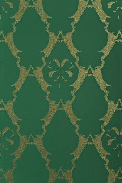 Hare Wallpaper | Billiard Green | Designer Wallpaper from 'Barneby Gates'
