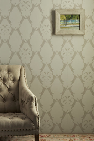 Hare Wallpaper | Stone | Designer Wallpaper from 'Barneby Gates'