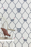 Fox Wallpaper | Charcoal | Designer Wallpaper from 'Barneby Gates'