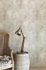 Bird Wallpaper | Fresco Style | Designer Wallpaper from 'Barneby Gates'