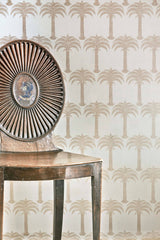 Palm Tree Wallpaper | Soft Gold | Designer Wallpaper from 'Barneby Gates'
