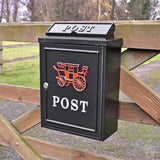 Wall Mounted Post Box - Red Carriage-Primrose Homeware
