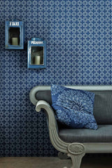 Wallpaper Anchor Tile, Marine - Designer Wallpaper from 'Barneby Gates' Barneby Gates